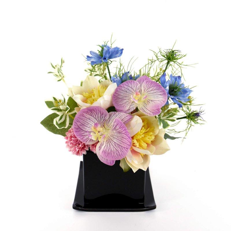 仏壇 供花 トライアングル ミックスカラー アーティフィシャルフラワー アートフラワー