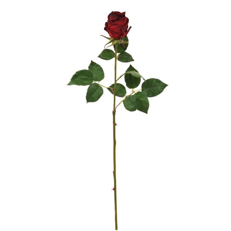 赤バラ 単品花材 H63 アーティフィシャルフラワー アートフラワー