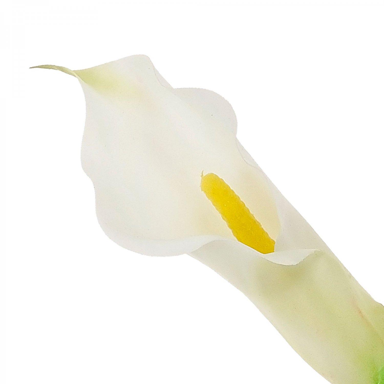 カラーリリィ クリーム 単品花材 H80 アーティフィシャルフラワー アートフラワー