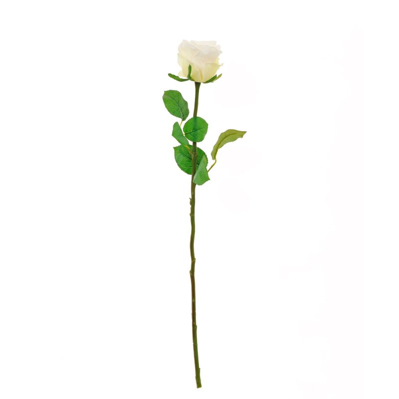 ローズ ホワイト バラ 単品花材 H58 アーティフィシャルフラワー アートフラワー