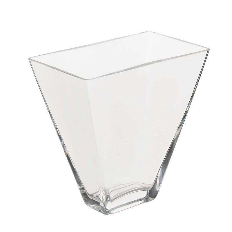 ガラス・レクトベース W25cm 花器 花瓶 フラワーベース
