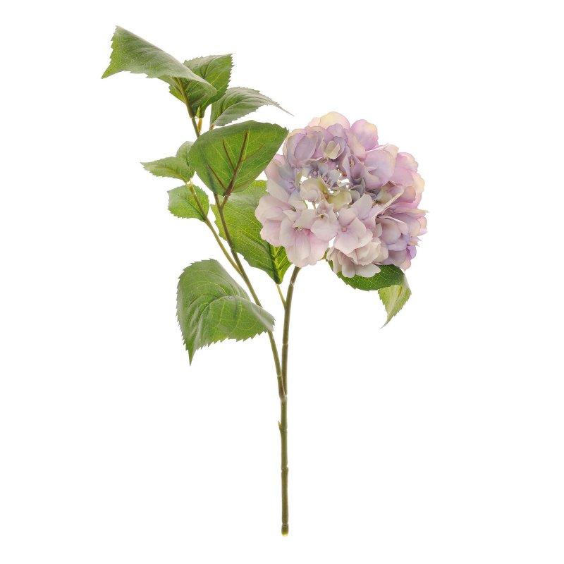 あじさい ライトラベンダー 葉付き 単品花材 アーティフィシャルフラワー アートフラワー