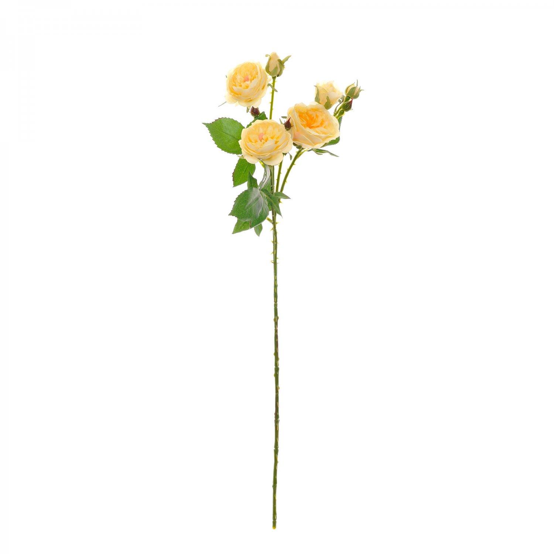 ワイルドローズ イエロー 単品花材 H68 アーティフィシャルフラワー アートフラワー