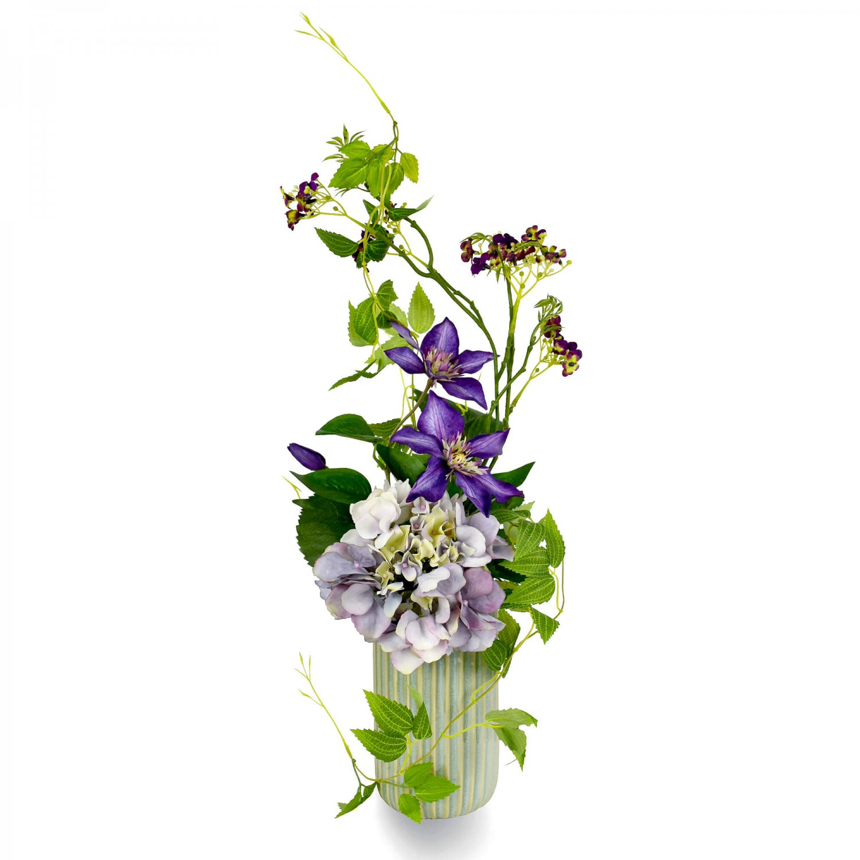 紫陽花 クレマチス ストレートラインベースS アレンジ アーティフィシャルフラワー アートフラワー