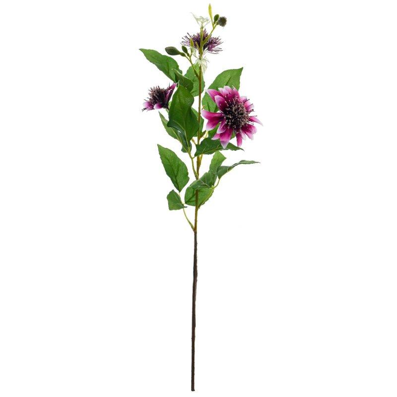 ジニア パープル  単品花材 アーティフィシャルフラワー アートフラワー