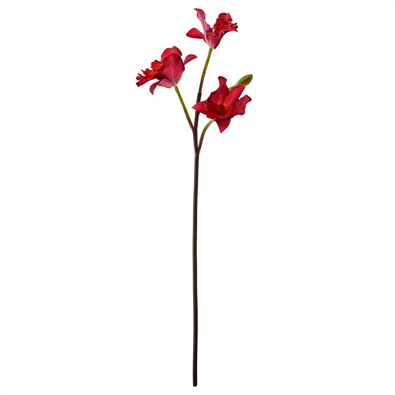 カトレア 洋蘭 レッド 単品花材 アーティフィシャルフラワー アートフラワー