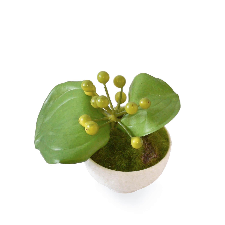 サンキライ ぐいのみ 白涼 CUPBON 盆栽 フェイクグリーン