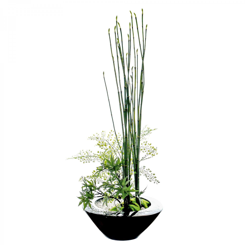 モミジ 寄せ植え盆栽 大鉢 CUPBON 盆栽 フェイクグリーン