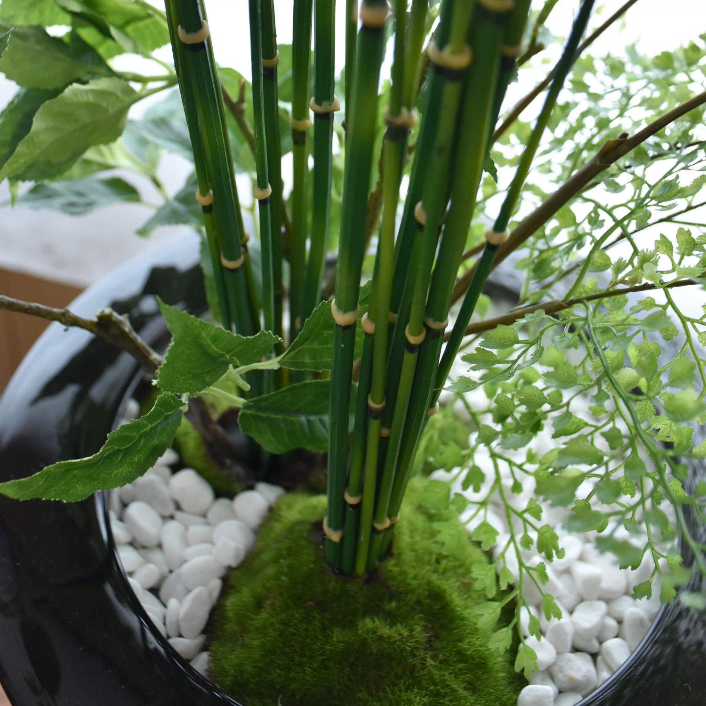 桜の葉 寄せ植え盆栽 大鉢 CUPBON 盆栽 フェイクグリーン