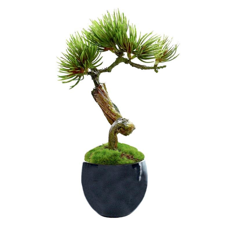 松・吹き流しS 小鉢 藍 CUPBON 盆栽 フェイクグリーン
