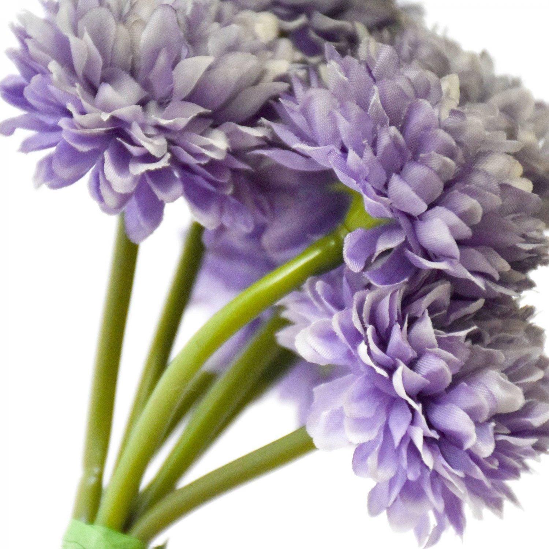 ボールマム 菊 ラベンダー 1束7本 単品花材 アーティフィシャルフラワー アートフラワー