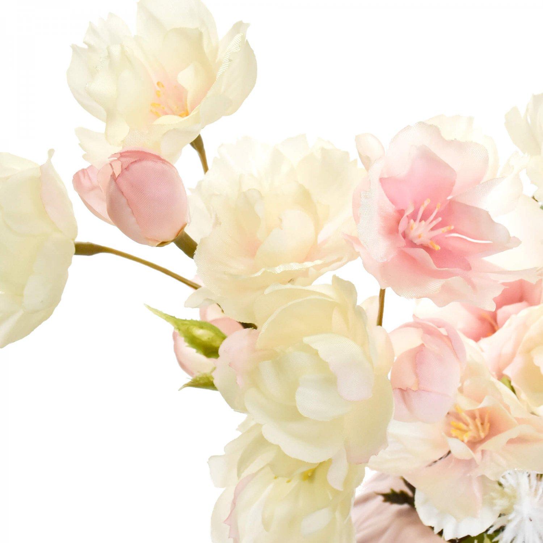 桜の手まりベースアレンジ 八重桜ピンク