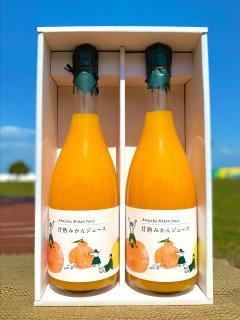 甘熟みかんストレートジュース(銀ラベル)720ml×2本(送料別)