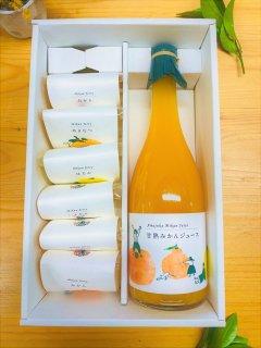 甘熟みかんストレートジュースとゼリーのセット(送料別)