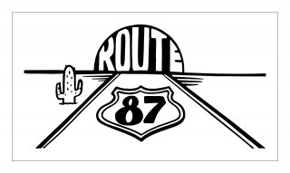 ROUTE87 ステッカー