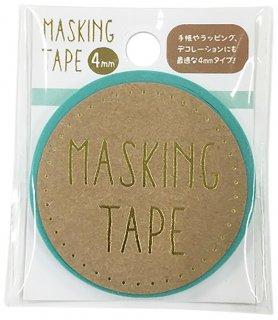 【マスキングテープ4mm パステルミント】