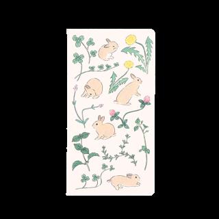 もりやましなこ 無地スリムノート 【花の季節とうさぎ】 37-339
