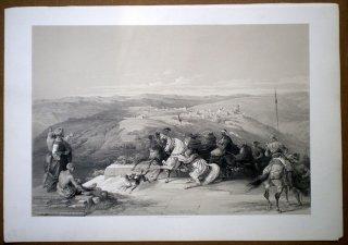 1842年 Roberts The Holy Land 初版 セバステ 古代サマリア Sabaste,Ancient Samaria