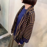 <img class='new_mark_img1' src='https://img.shop-pro.jp/img/new/icons16.gif' style='border:none;display:inline;margin:0px;padding:0px;width:auto;' />50%off<BR>SI-HO SUP<BR>ボーダーストールカーディガン