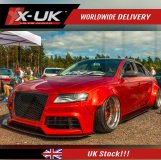 RS4 style front grill gloss black for Audi A4 B7 2004-2008