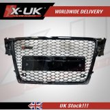 RS4 style front grill gloss black for Audi A4 / S4 2008-2012