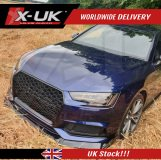 RS4 style front grill gloss black for Audi A4 / S4 B9 2016-2019