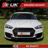 RS5 style front grill gloss black for Audi A5 / S5 2016-2019