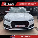 Audi A5 S-line / S5 2016-2019 gloss black front splitter / lip