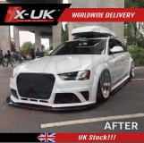 RS4 style front bumper upgrade for Audi A4 / S4 B8.5 2013-2015