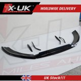 Front splitter with canards for X-UK RS6 style front bumper upgrade and OEM RS6 front bumper
