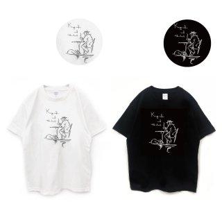 ミニチュアシュナウザー 『ちょっと一息』ラフスケッチTシャツ