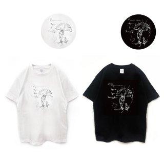 ミニチュアシュナウザー 『楽しい雨の日』ラフスケッチTシャツ