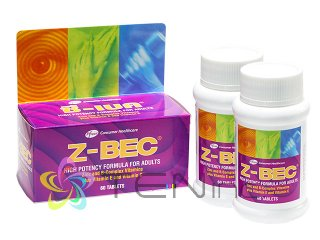 Z-BEC 2ボトル(60tabs x 2)(タイ製/国際書留)