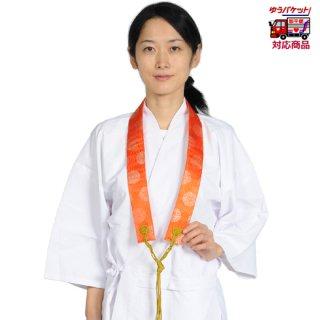 輪袈裟(銀襴・上) 菊柄 朱