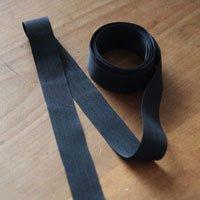 【わけあり】グログラン黒(25mm/3mカット)