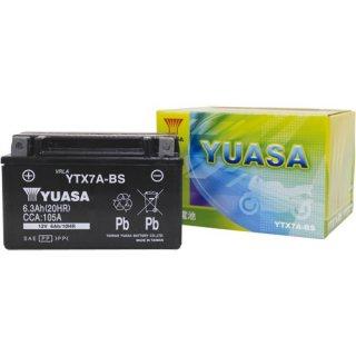 【新品保証付&激安】台湾ユアサ バイクバッテリー(液別密閉) TYTX7A-BS