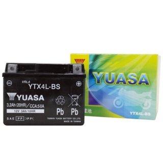 【新品保証付&激安】台湾ユアサ バイクバッテリー(液別密閉) TYTX4L-BS