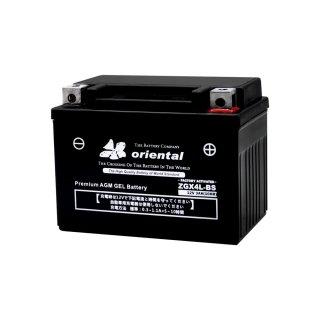 【新品 格安 高品質 低コスト】 バイク用バッテリー oriental ZGX4L-BS(完全密閉)