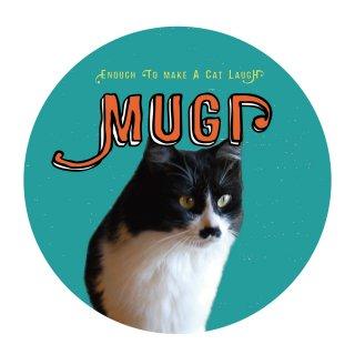 【絵柄C】ペットの写真でつくる 丸にヒゲ文字でお名前 ミントグリーン