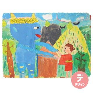 【絵柄B】子供の絵でつくる 四角フチボカシ