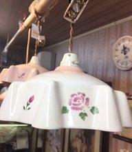 マニー ローズ陶器ランプシェード WT