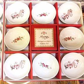 マニー ロココ豆皿8枚セット