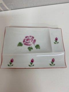 ロ−ズ 陶器 パレットプレート