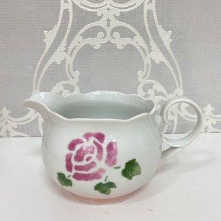 ロ−ズ 陶器 ソースピッチャ−