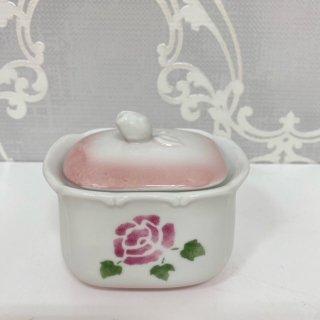 ロ−ズ 陶器 シュガ−ポット