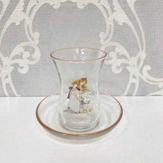 プティタンジュ ガラスチャイグラス&ソ−サ−