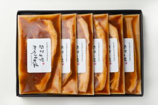 《100g×6枚》漢方三元豚モモ厚切りみそ漬け(お歳暮、ギフト、みそ漬け)