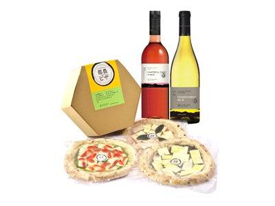 家飲みにオススメ!<br>都農ワインの逸品&都農産ピザ3枚セット