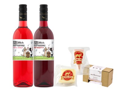 【ハーベストフェスティバル記念ラベル】2021新酒(ロゼ+赤)とダイワファームチーズ2種&ラスクセット