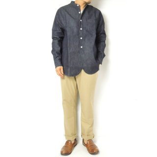 <img class='new_mark_img1' src='https://img.shop-pro.jp/img/new/icons2.gif' style='border:none;display:inline;margin:0px;padding:0px;width:auto;' />FOB factory DENIM BAND COLLOR SHIRTS